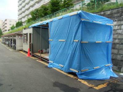 仮設事務所、加工場設置
