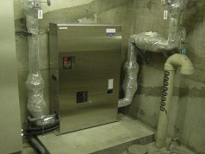 ポンプ室:施工完了(下部受水槽不要となります)<br /> ポンプメーカー:(株)川本製作所