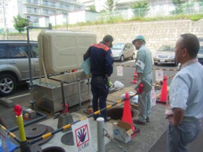 消防検査<br /> 仮設用少量危険物検査立会<br /> 札幌市南消防署