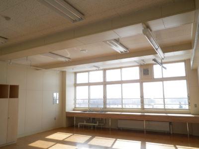 教室にも流し台が設置されています。