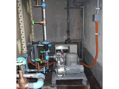 給水ポンプ交換・配管更新完了
